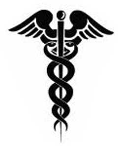 La symbolique du caducée.