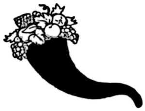 La symbolique de la corne d'abondance.