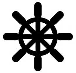 La symbolique du gouvernail.