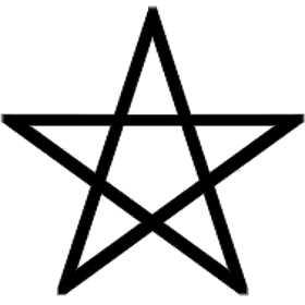 La symbolique du pentagramme.