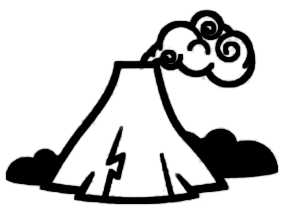 La symbolique du volcan.